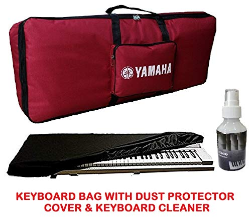 Mexa for yamaha PSR-E243, E343, E353, E363, E453, E463, I455, I425, I400, I500 keyboard bag with dust cover padded quality (Yred)