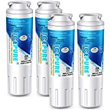 ICEPURE UKF8001 Refrigerator Water Filter Replacement for EveryDrop EDR4RXD1, Whirlpool Filter 4, Maytag UKF8001AXX-200, UKF8001P, 4396395, 469006, Puriclean II, FMM-2, WF295, RFC0900A, RWF0900A 4PACK