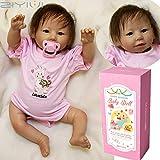 ZIYIUI Poupée Reborn Fille Reborn Bébé Réaliste Poupons en Silicone Nouveau-né Toddler Babies Rose Outfit 20 Pouce