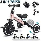 XJD 3 en 1 Vélo Draisienne Tricycle pour Enfants de 1-3 Ans Premier Vélo...