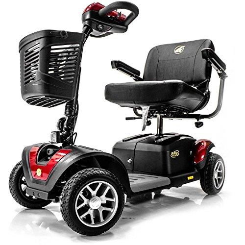BUZZAROUND EX Extreme 4-Wheel Heavy Duty Long Range Travel Scooter, Red, 18-Inch Seat 1
