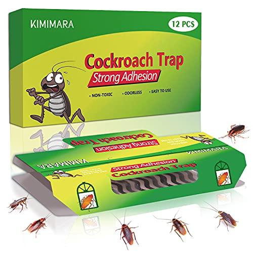Kimimara Cockroach Trappole, 12 Pcs Trappole per scarafaggi
