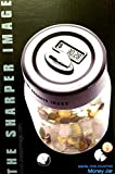 The Sharper Image Electronic Digital Coin Counting Money Jar - Piggy Savings Bank