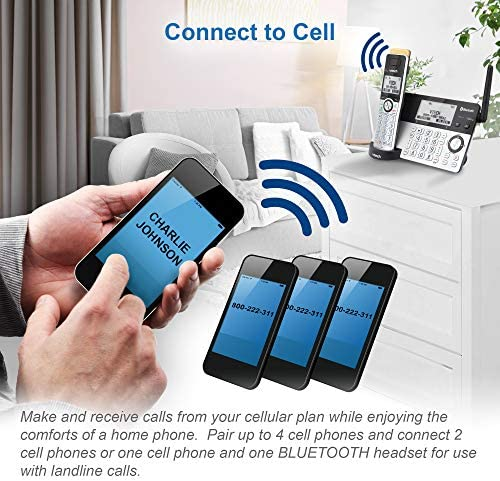 VTech IS8151-5 Super Long Range 5 Handset DECT 6.0 Cordless Phone for Home with Answering Machine, 2300 ft Range, Call Blocking, Bluetooth, Headset Jack, Power Backup, Intercom, Expandable to 12 HS 15