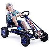 DREAMADE Kart à Pédale Enfant,Go-Kart d'Extérieur avec Charge Maximale...