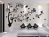 Alicemall Vinilos Arbol con Hojas Negro Pegatinas de Pared 1.75*2.3 m Murales Pared 3D para Sala de...