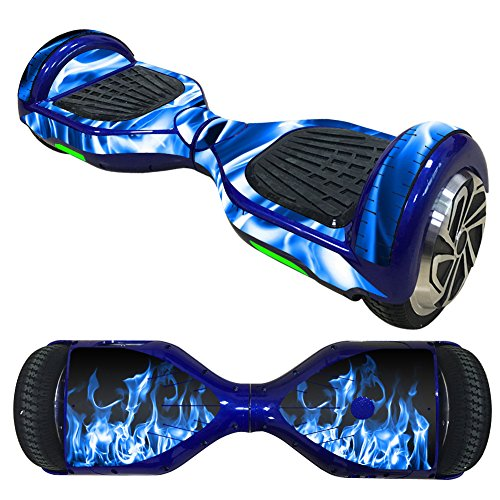 Adesivo auto bilanciante per scooter, compatibile con Hoverboard Scooter, Hoverboard Vinyl Decal Wrap Cover,Smart Hover Scooter protettivo Skin Wrap Wrap facile da applicare e rimuovere (adesivo blu)