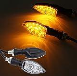 FEZZ Feux Clignotans Led Moto Indicateur Clignotant Universel Sequentiel Clignotants Moto Ampoule...