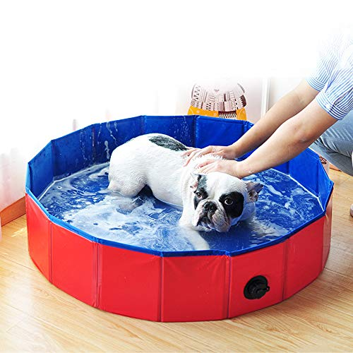Blusea Foldable Pet Bath Pool Collapsible Dog Pool Pet Bathing Tub Pool for Dogs Cats