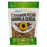 Diabetic Kitchen Cinnamon Pecan Granola Cereal, 3g Net Carbs, Keto Friendly, Low Carb, No Sugar Added, Gluten-Free, 5g Fiber, Non-GMO, No Artificial Sweeteners or Sugar Alcohols (11 oz)