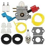 Wellsking C1U-W12A Carburetor for Poulan FL1500 FL1500LE Leaf Blower C1U-W12B Gas Leaf Blower Carb Craftsman 952711486 530071629 with Air F11ilter Filter Repower Kit Spark Plug