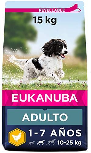 Eukanuba Alimento seco para perros adultos activos de raza mediana,,...