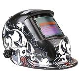 FIXKIT Masque de Soudage Electrique Energie Solaire Avec 2 Capteurs Optiques pour MIG/MAG/TIG/Coupage Plasma etc, Protection UV / IR: DIN 16, 1 + 5 Lentilles