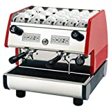 La Pavoni PUB 2V-R 2 Group Volumetric Electronic Programmable Dosing Espresso Machine with Digital Control Pad and Microprocessor, Red
