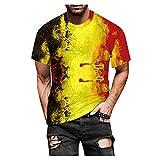 WELCO 2021 - Camiseta de manga corta para hombre de manga corta para primavera y...