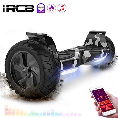 RCB Hoverboard Scooter elettrico fuoristrada Scooter 8.5'' Hummer LED APP Bluetooth integrato con...