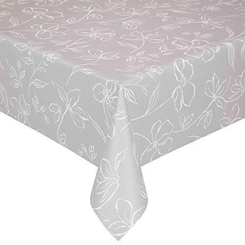 Peyer Tischdecke Flair mit Fleckschutz, Verschiedene Größen, Silber, Größe Tischwäsche:Tischdecke 130 x 160 cm