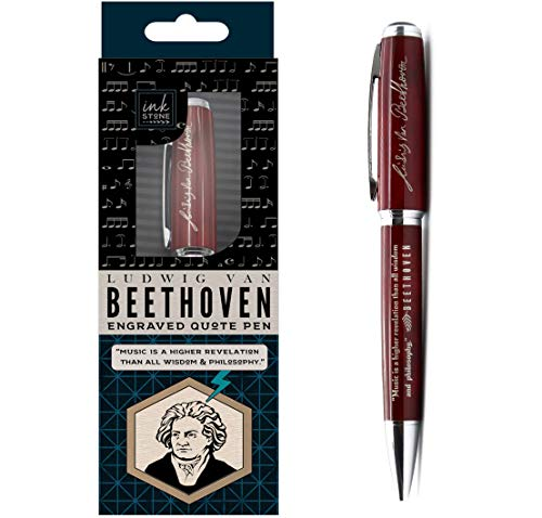 Beethoven Engraved Quote Pen - Music is a Higher Revelation...