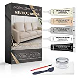 Neutral Color Vinyl and Leather Repair Kit for Couches | PU Leather Leather Repair Paint Gel for Sofa, Jacket, Furniture, Car Seats, Purse. Perfect Color Matching for Genuine, Bonded, PU, Faux Leather