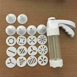 Cookie Cutter Cookie Press Gun Set Biscuit Cake with 12 Discs and 6 Icing Tips