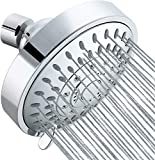 Tibbers Shower Head, High Pressure 5 Settings Showerhead with Adjustable Swivel Ball Joint, Excellent Shower Experience Even at Low Pressure and Water Flow