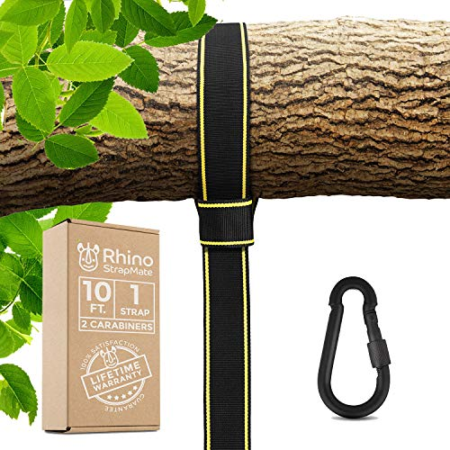 Tree Swing Strap Hanging Kit – 10ft Strap, Holds 2800 lbs (SGS...