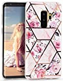 Imikoko Galaxy S9 Plus ケース 【大理石 耐衝撃】 シリコン ソフト tpu かわいい レンズ保護 ……