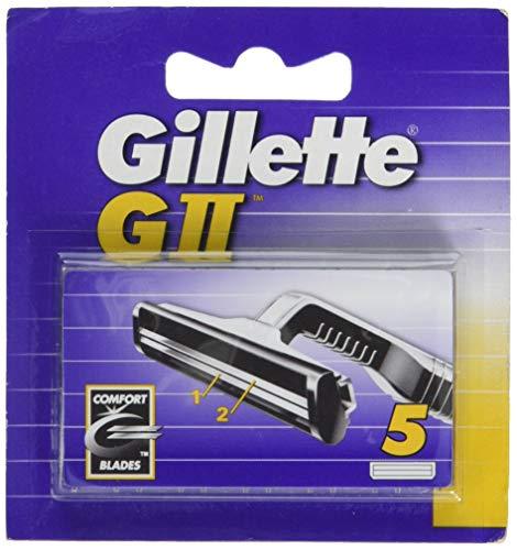 Gillette GII Lame Comfort da uomo intercambiabili, confezione da 5, Lamette di Ricambio, facili da sostituire