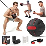 TITISKIN All-in ONE Home Gym Workout Equipment with Weighted Fitness Ball, Resistance Band Handles,Modular Dumbell,Foam Roller - Total Body Workout Machine for Home, Travel or Outside