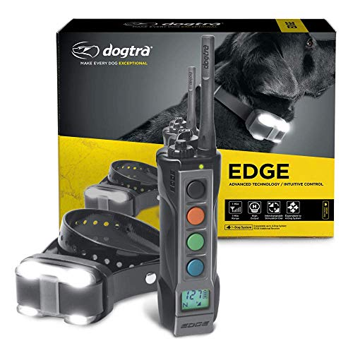 Dogtra Edge Long Range High-Output 1-Mile Waterproof 4-Dog Expandable Remote Dog Training E-Collar with LED Receiver for Professionals