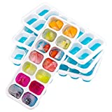 OMORC 4 Pack, Easy-Release Silicone & Flexible 14 Cube Spill-Resistant...