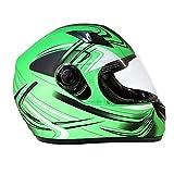 Typhoon K77 Full Face Motorcycle Helmet DOT - SAME DAY SHIPPING (Matte Green, Adult XXL)
