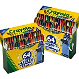 Crayola 64ct Ultra Clean Washable Crayons, 2 Pack Bulk Crayon Set, Gift for Kids