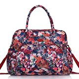 Lily & Drew Carry On Weekender Overnight Travel Shoulder Bag for 15.6 Inch Laptop Computers for Women (Autumn Rose V2)