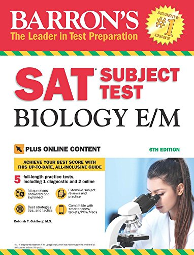 SAT Subject Test Biology E/M with Online Tests (Barron's Test Prep)