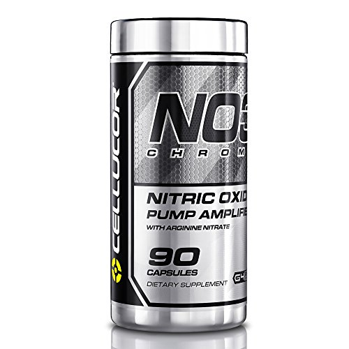 Cellucor NO3 Chrome Nitric Oxide Supplements with Arginine Nitrate for Muscle Pump & Blood Flow, 90 Capsules, G4