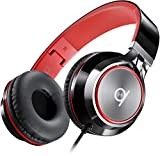 Artix Faltbare Kopfhörer mit Mikrofon, NRGSound CL750 Kompakte On-Ear Stereo Ohrhörer, Ideal für Kinder/Jugendliche/Erwachsene (Schwarz & Rot)