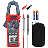 AstroAI Digital Clamp Meter Multimeter 4000 Counts Auto-ranging Amp Voltage Tester Measuring AC/DC Voltage & Current, Resistance, Capacitance, Frequency, Continuity, Live Wire Test, NCV Detection