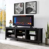 """Classicflame 42"""" Wall-Mounted Infrared Quartz Electric Fireplace Heater with Display Stand & Remote control with 2 AAA batteries included"""