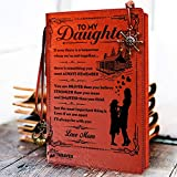 To My Daughter Leather Writing Journal from Mom - Christmas Gift Ideas 2019 - Drawing Sketch Book Travel Diary Refillable Notebook Birthday Wedding Graduation Back to School Gift from Mom to Daughter