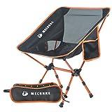 MECHHRE Chaise de Camping Pliable avec Sac de Transport - Compacte, Ultra Légère Chaise de Plage...