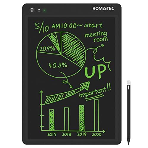 HOMESTEC Tableta Escritura LCD Color, Pizarra Digital para apuntar recordatorios Escribir o Dibujar (13,5 Pulgadas, Negro)