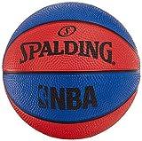 Spalding NBA Sz.1 (66-993Z) Minibalones de Baloncesto, niños, Azul/Rojo, 1