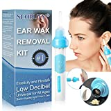 Ear Wax Removal Kit, Ear Cleaner, Portable Automatic Electric Vacuum Ear Wax, Safe and Comfortable Ear Wax Removal, Soft Ear-Pick Clean Tools Set, Safe and Comfortable for Adults Kids