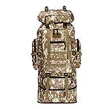 BYBYTO Desert Camuflaje Mochila Bolsa de Senderismo 70L + 30lscalable Daypacks Tactical Assault Pack, Ideal para el Deporte al Aire Libre Trekking Camping Travel Travel Trokbing Mochila