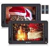 """Pumpkin 2 Reproductores DVD Portátil Coche / Casa- 10.1 """" reposacabezas con Dos Pantallas soporta USB/ SD/ CD/ TV, 5 Horas de Reproducción de la Batería con Mando a Distancia"""