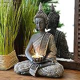 INtrenDU Bouddha Statuette chinois 31cm avec chandelier décoration zen...
