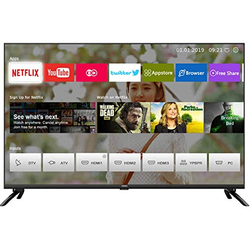 CHiQ U50H7L UHD 4K Smart TV, 50 Pouces, HDR10/hlg, WiFi, Bluetooth, Youtube, Netflix 5,1, Youtube Kids