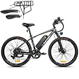 Rattan Challenger 26 Inch Electric Bicycle 48V 10.4AH Removable Lithium-ion Battery 350W Electric...
