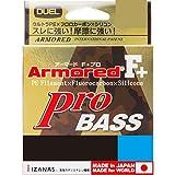 DUEL(デュエル) ライン: ARMORED F+ Pro BASS 100m0.1号 : シルバー×高視認オレンジマーキング